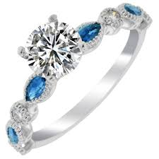 Timeless Designs Timeless Designs And Sapphire Ring Setting In 14kt White