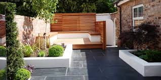 contemporary slatted timber panels the garden trellis company