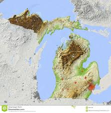 San Francisco Topographic Map by Topographic Map Of Michigan Michigan Map