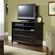 Black Tv Cabinet With Drawers Stylish Tv Stand Dresser Furniture Home Inspirations Design