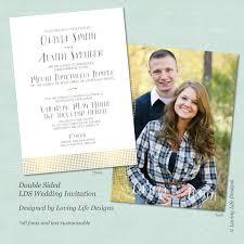 lds wedding invitations lds wedding invitation gold foil dots lds wedding invite