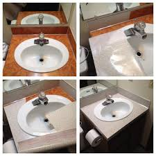 covering cabinets with contact paper ugly bathroom sink in our new rental now covered with contact