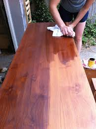How To Refinish Teak Dining Table How To Our Refinish A Mid Century Modern Buffet Merrypad