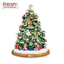 rudolph the nosed reindeer illuminated tabletop tree