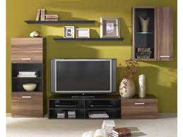 Wenge Living Room Furniture Living Room Furniture Set In Walnut With Led Light On Contemporary