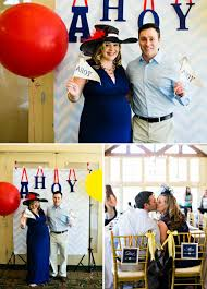 sailor baby shower parents ahoy photobooth flags the celebration