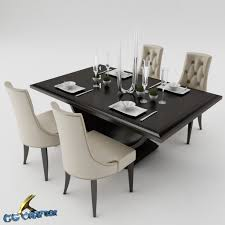 Dinner Table Set by 3d Model Dining Dining Table Set Cgtrader