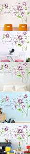 purple dream flower elegant wall stickers removable wall sticker purple dream flower elegant wall stickers removable wall sticker living room bedroom tv background home decoration poster