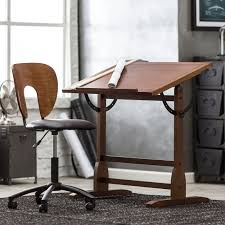 Antique Drafting Tables Studio Designs 42 In Rustic Oak Vintage Drafting Table And Chair