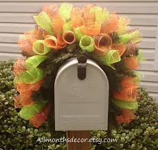 How To Make Halloween Wreath With Mesh by Fall Multicolored Bendable Spiral Deco Mesh Wreath Swag Youtube