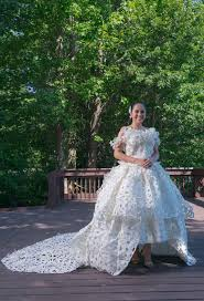 paper wedding dress personal loss inspires chesapeake designer s entry in
