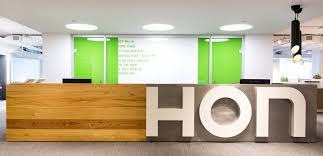 Hon Reception Desk Hon Showroom Merchandise Mart Icon Modern
