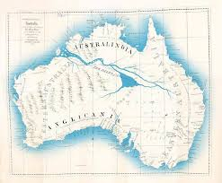 North Pole Map Maslen U0027s Map Of The Mythical Inland Sea Of Australia In The
