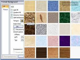 designs powerpoint 2007 create a texture background in powerpoint 2007