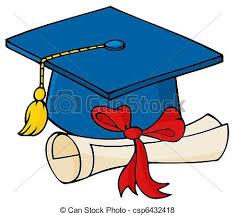 blue graduation cap graduate blue cap with diploma blue graduation cap and vector