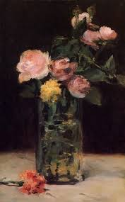 Glass Vase Painting Edouard Manet Roses In A Glass Vase Painting Edouard Manet Roses