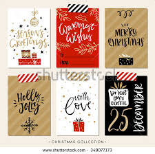 modern christmas cards christmas gift tags cards calligraphy stock vector 349077173