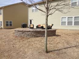 Belgard Fire Pit by Paver Patio Fire Pit And Seating Wall In Tega Cay At Lake Ridge