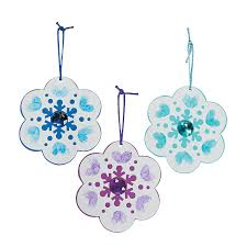thumbprint snowflake christmas ornament craft kit craft kits