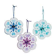 thumbprint snowflake christmas ornament craft kit craft kits