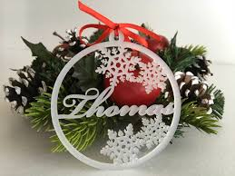 personalised christmas baubles frosted white acrylic bauble xmas