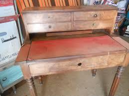 bureau secr aire bois bureau secrétaire en bois vintage les vieilles choses