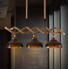 Vintage Pendant Light Fixtures Hemp Rope Edison Loft Style Industrial Vintage Pendant Lights With