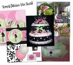 Modern Mommy Baby Shower Theme - 50 custom handmade baby shower invitations mod mom mix and match