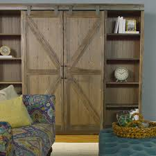wood farmhouse barn door bookcase world market