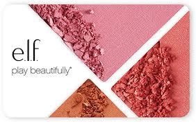 gift card egift card e l f cosmetics