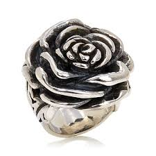 silver rose rings images King baby jewelry sterling silver bold rose ring 7713285 hsn jpg