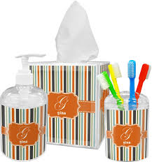 Super Hero Bathroom Set Orange U0026 Blue Stripes Bathroom Accessories Set Personalized