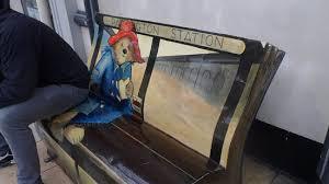 paddington bear bench cute picture paddington station