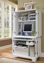 Armoire Computer Desk by White Modern Computer Armoire With Accessories Useful Computer