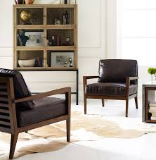 Accent Chair With Brown Leather Sofa Carter Curved Grey Leather Dining Chair Zin Home