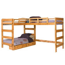 l shaped bunk beds with desk l shaped bunk beds you ll love wayfair