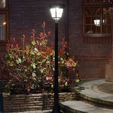 super solar powered motion sensor lights solar powered aluminium security l post with pir 2m by supersolar