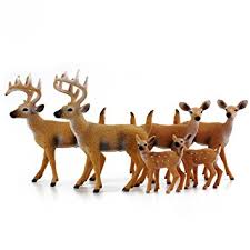 white tailed deer family figurines 6 figure set 2