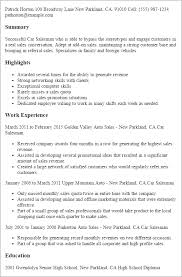 salesman resume professional car salesman templates to showcase your talent