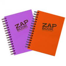 clairefontaine zap book sketch pad with spirals 80 gsm