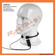 catálogo de fabricantes de micrófono de garganta militar de alta