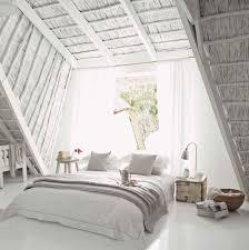 Restoration Hardware Duvet Contemporary Master Bedroom With Concrete Floors U0026 High Ceiling