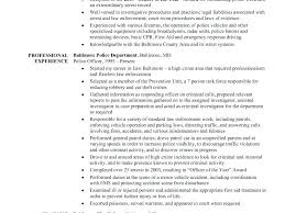 Objective For Law Enforcement Resume Resume Police Officer Resume Objective Examples Sample