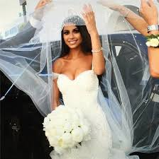 unique design mermaid wedding dress off the shoulder floor