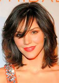 wispy hairstyles for medium length hair medium length hair with side swept bangs and layers pictures images