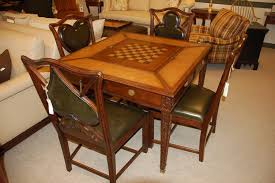 jonathan charles game table and 4 game chairs mahogany