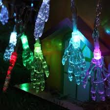 10 led halloween skull head string lights decorated colored lamp