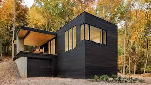 hillside cabin plans studio mm clads hudson valley hillside cabin in blackened wood