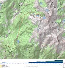 Map Of Yosemite Quartz Mountain To Chain Lakes Yosemite Weekender Calitrails