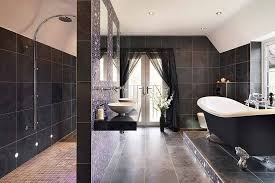 black tile bathroom ideas black tile bathroom ideas homepeek
